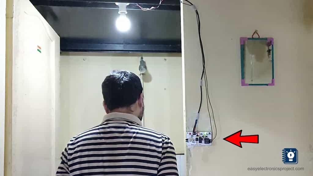 automatic washroom light switch