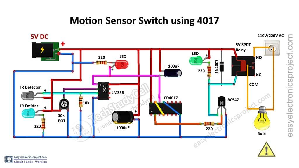 Circuit of the Motion Sensor Light