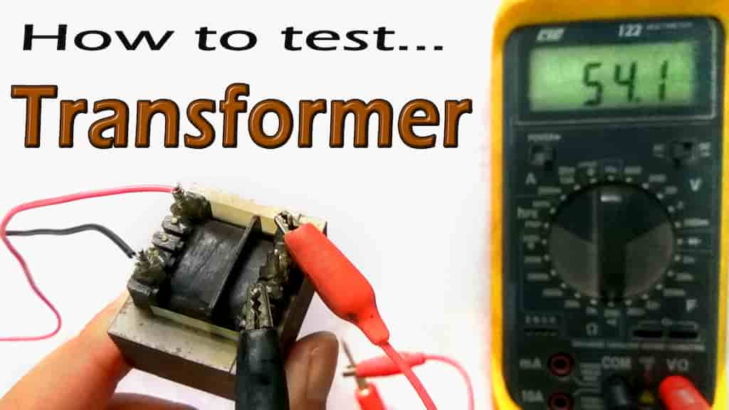 Transformer testing with Multimeter