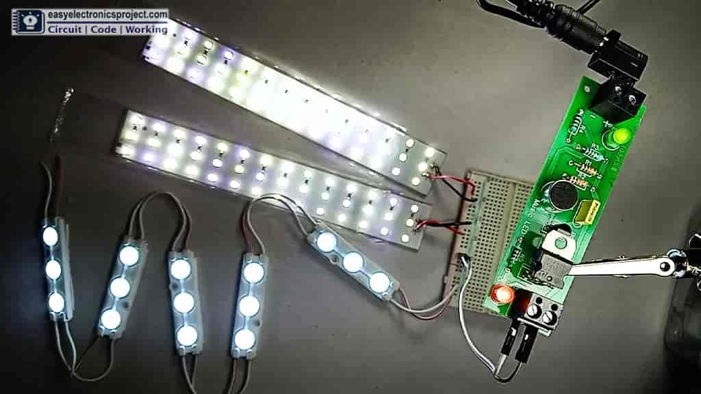 Flashing LED with music rhythm
