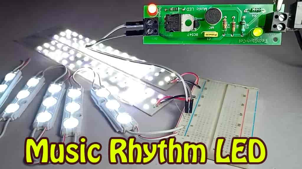 Music Rhythm LED flashlight project