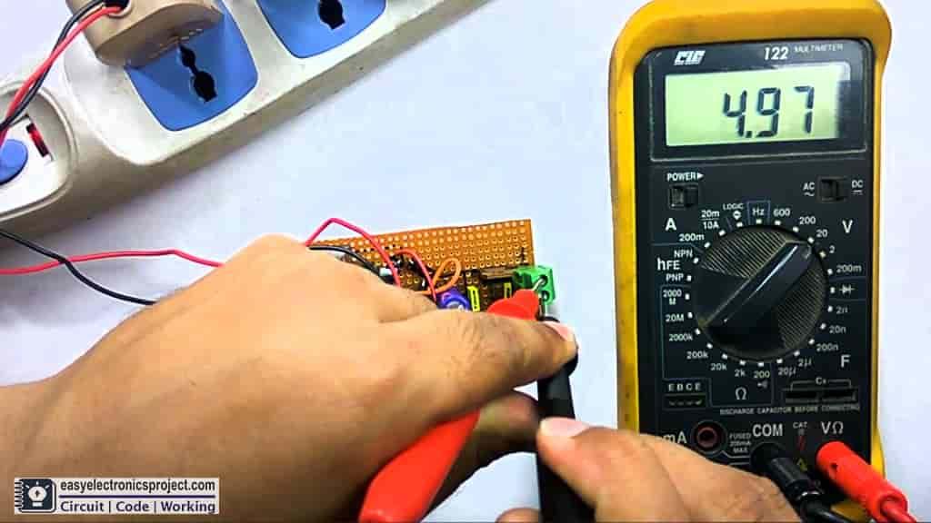 testing the 5V DC supply