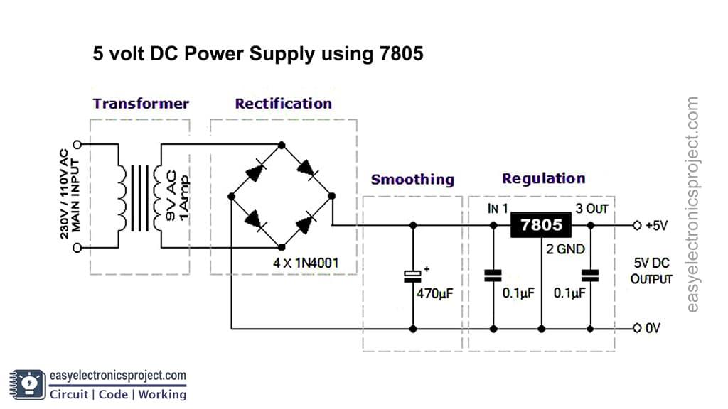 5V Power Supply Circuit