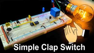 Clap Switch Circuit using IC 4017