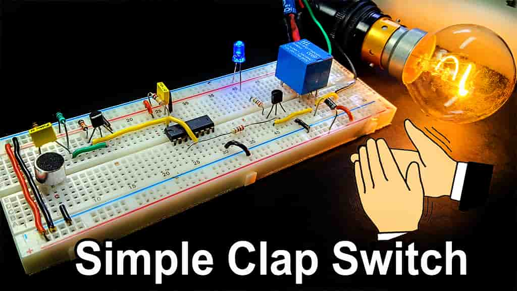 Clap Switch Circuit using IC 4017