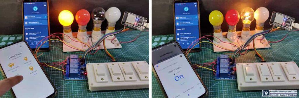 Google Assistant control Relay using ESP32
