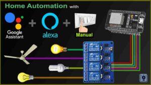 Home Automation project using ESP32 Alexa Google Home