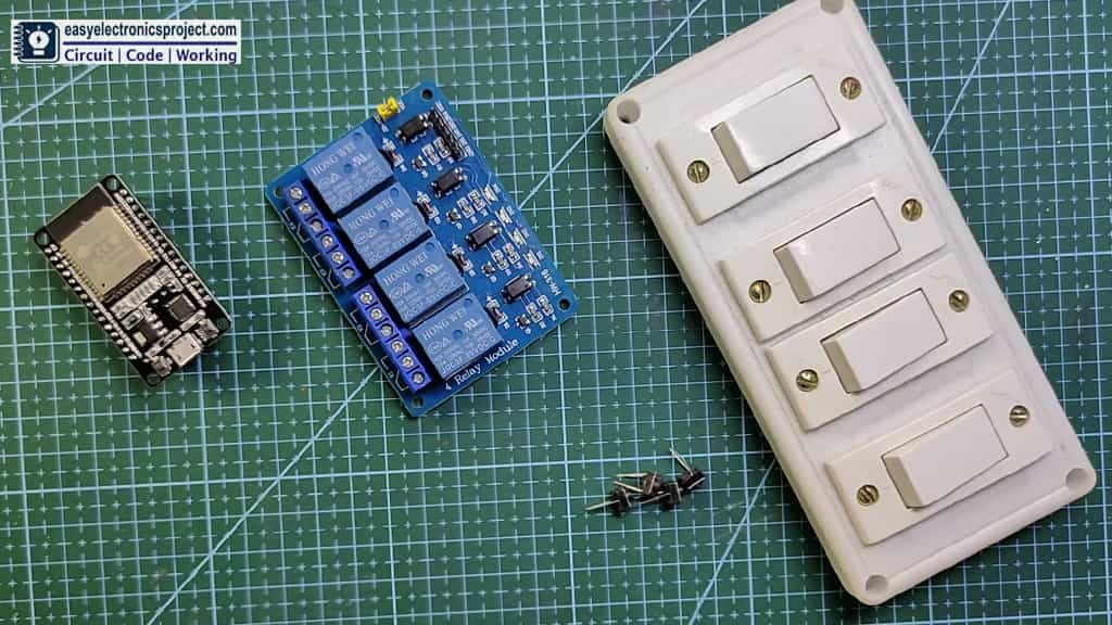 Required Components for the ESP32 projects