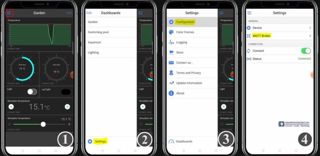 Set Up IoT OnOff app as MQTT client