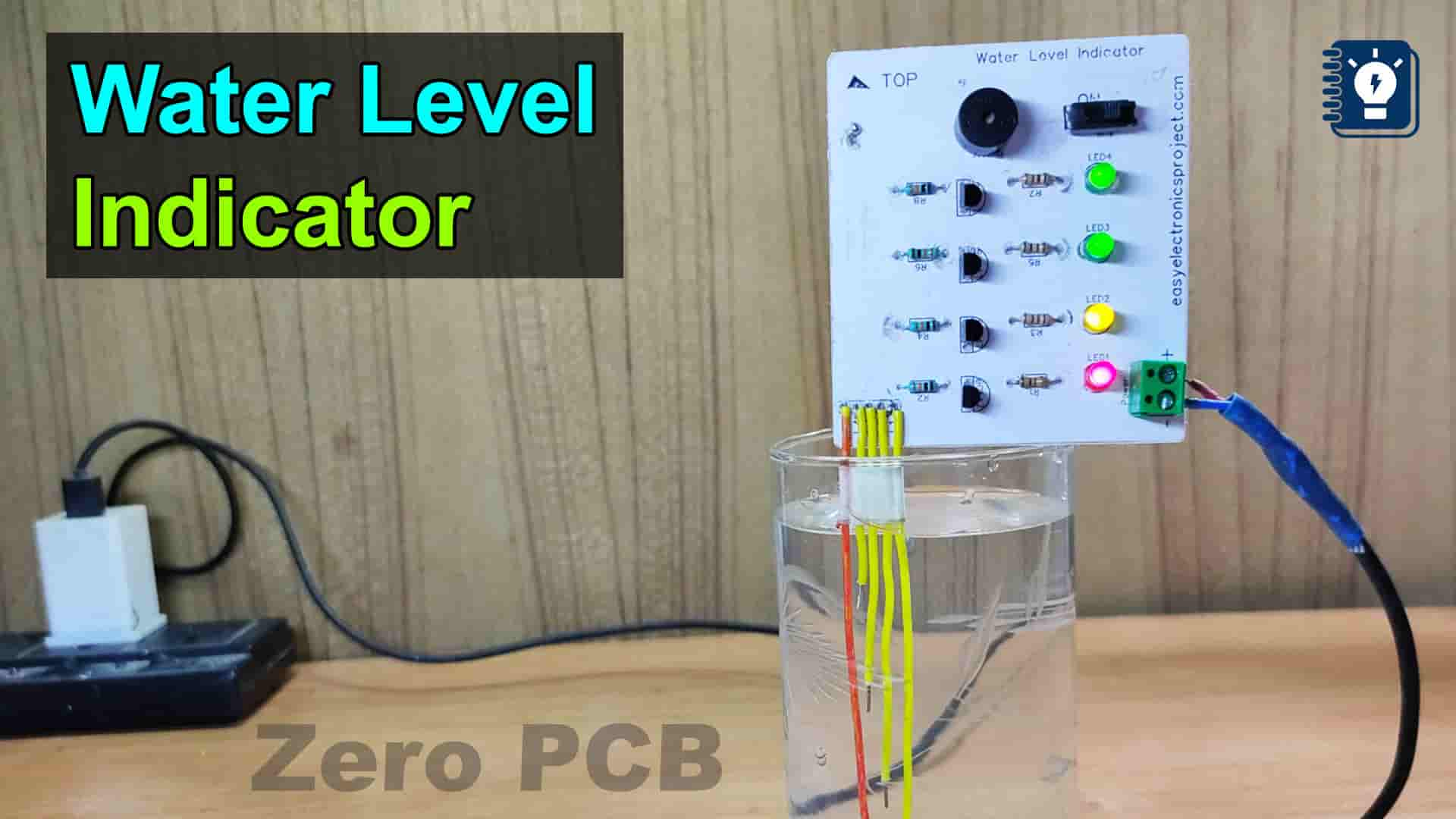 Water Level Indicator with Buzzer