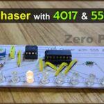 LED chaser lights with 555 timer