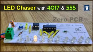Read more about the article LED chaser lights with 555 timer